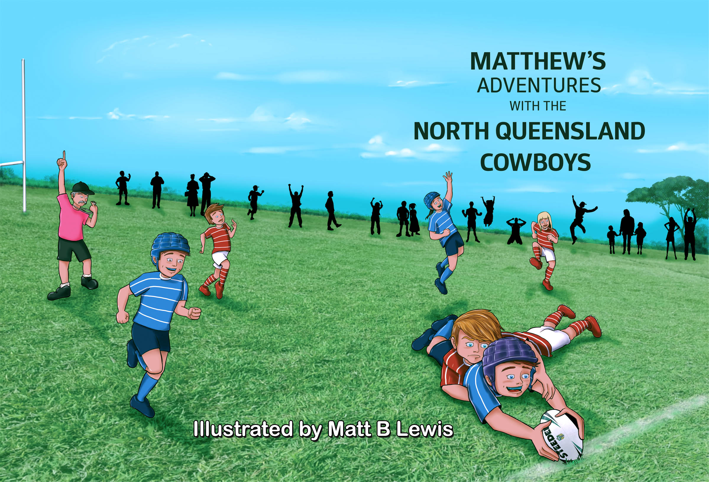 My Adventurs with the NRL Series cover - Matt B lewis